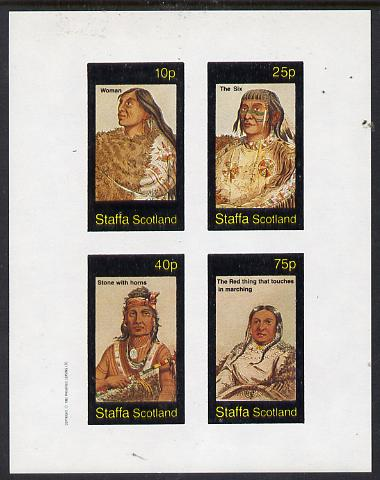 Staffa 1982 N American Indians #10 imperf set of 4 values unmounted mint