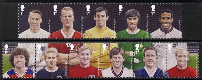 Great Britain 2013 Football Heroes set of 11 values unmounted mint