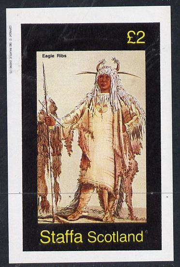 Staffa 1982 N American Indians #10 imperf deluxe sheet unmounted mint (�2 value)