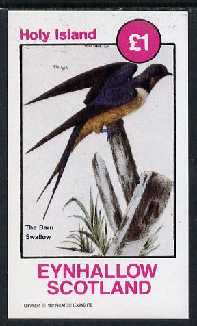 Eynhallow 1982 Barn Swallow imperf souvenir sheet (�1 value) unmounted mint