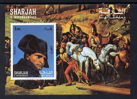 Sharjah 1970 Napoleon imperf m/sheet unmounted mint (Mi BL 64)