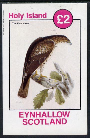Eynhallow 1982 Fish Hawk imperf deluxe sheet (�2 value) unmounted mint