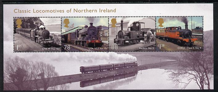 Great Britain 2013 Classic Locomotives of Northern Ireland perf m/sheet unmounted mint