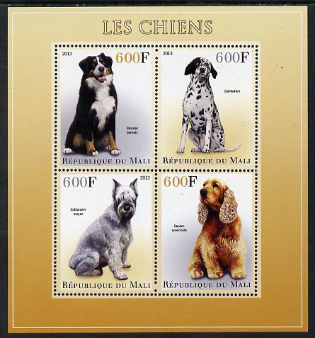 Mali 2013 Dogs perf sheetlet containing 4 values unmounted mint