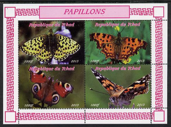 Chad 2013 Butterflies #04 perf sheetlet containing 4 values unmounted mint