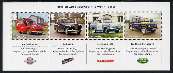 Great Britain 2013 British Auto Legends perf m/sheet unmounted mint