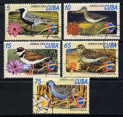 Cuba 2002 Espana Stamp Exhibition - Birds set of 5 fine cto used SG 4585-89