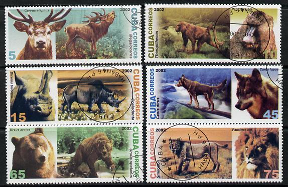 Cuba 2002 Prehistoric Animals set of 6 fine cto used SG 4627-32