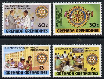 Grenada - Grenadines 1980 75th Anniversary of Rotary International set of 4 unmounted mint, SG 377-80