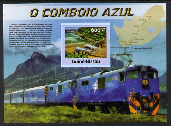 Guinea - Bissau 2013 Blue Train #3 imperf m/sheet unmounted mint. Note this item is privately produced and is offered purely on its thematic appeal
