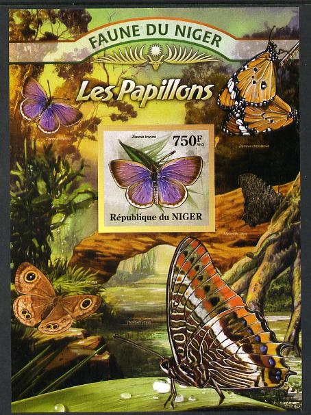 Niger Republic 2013 Butterflies #4 imperf m/sheet unmounted mint. Note this item is privately produced and is offered purely on its thematic appeal