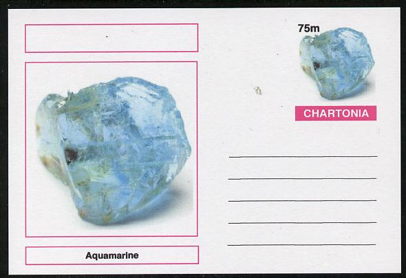 Chartonia (Fantasy) Minerals - Aquamarine postal stationery card unused and fine
