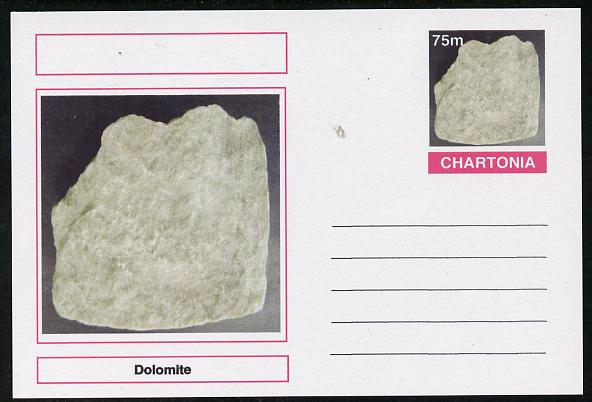 Chartonia (Fantasy) Minerals - Dolomite postal stationery card unused and fine