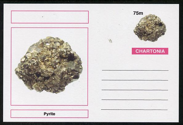 Chartonia (Fantasy) Minerals - Pyrite postal stationery card unused and fine