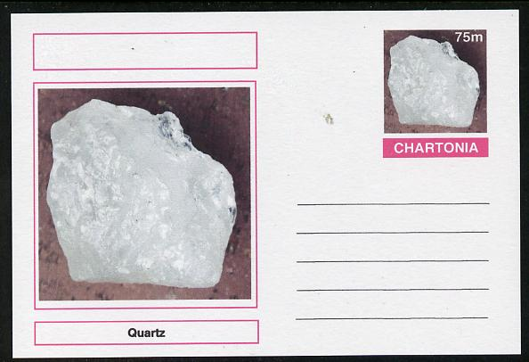 Chartonia (Fantasy) Minerals - Quartz postal stationery card unused and fine