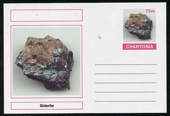 Chartonia (Fantasy) Minerals - Siderite postal stationery card unused and fine