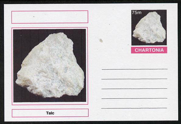 Chartonia (Fantasy) Minerals - Talc postal stationery card unused and fine