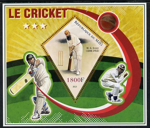 Mali 2013 Cricket perf s/sheet containing one diamond shaped value unmounted mint
