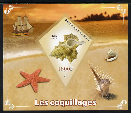 Mali 2013 Shells imperf s/sheet containing one diamond shaped value unmounted mint