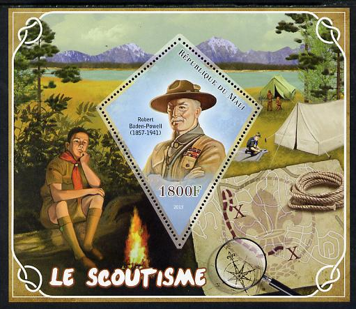 Mali 2013 Scouting perf s/sheet containing one diamond shaped value unmounted mint