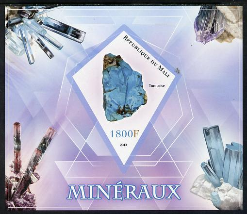 Mali 2013 Minerals #1 imperf s/sheet containing one diamond shaped value unmounted mint