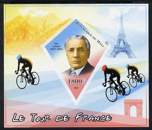 Mali 2013 Le Tour de France imperf s/sheet containing one diamond shaped value unmounted mint