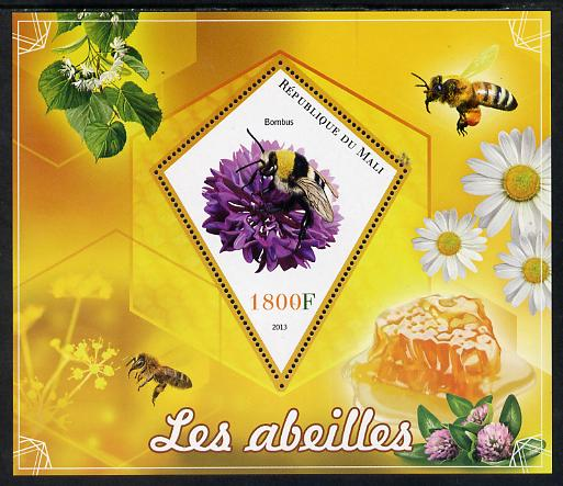 Mali 2013 Bees perf s/sheet containing one diamond shaped value unmounted mint