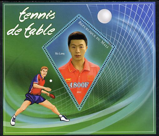 Mali 2013 Table Tennis perf s/sheet containing one diamond shaped value unmounted mint