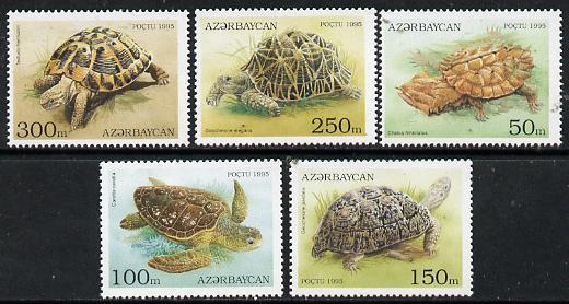 Azerbaijan 1995 Turtles perf set of 5 unmounted mint SG234-38