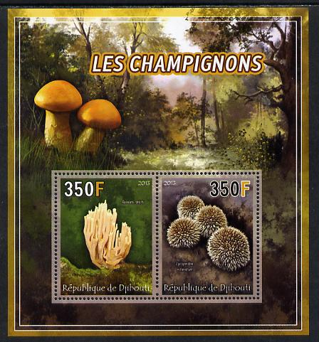 Djibouti 2013 Fungi #4 perf sheetlet containing 2 values unmounted mint