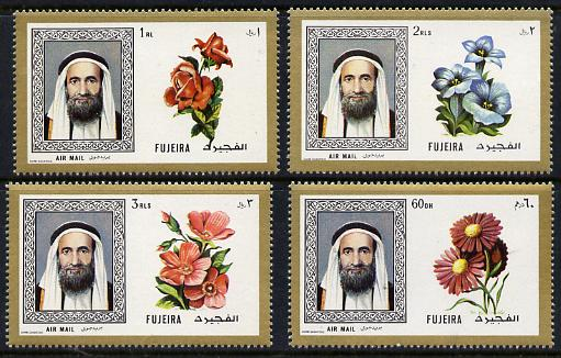 Fujeira 1971 Flowers perf set of 4 from Fish & Flowers set unmounted mint, Mi 6558-61A (SG 198-201)