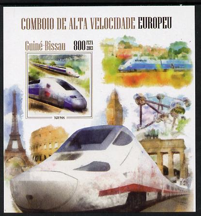 Guinea - Bissau 2013 European High Speed Trains #2 imperf s/sheet unmounted mint