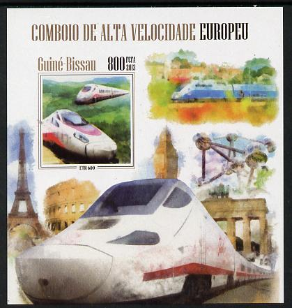 Guinea - Bissau 2013 European High Speed Trains #3 imperf s/sheet unmounted mint