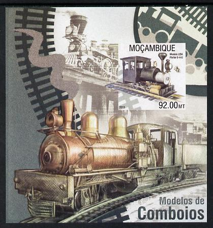 Mozambique 2013 Steam Trains #02 imperf s/sheet unmounted mint