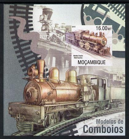 Mozambique 2013 Steam Trains #03 imperf s/sheet unmounted mint