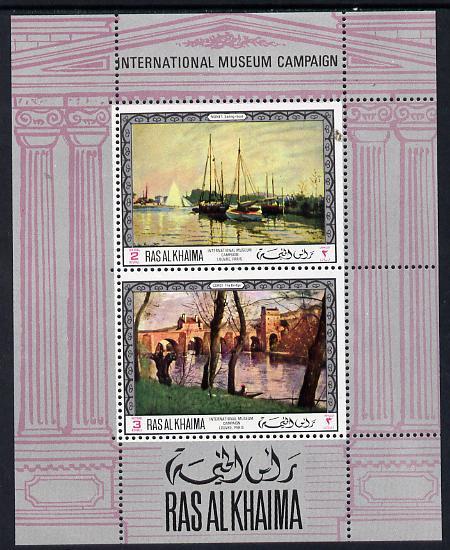 Ras Al Khaima 1968 Art - International Museums - Louvre perf m/sheet unmounted mint Mi BL 42A