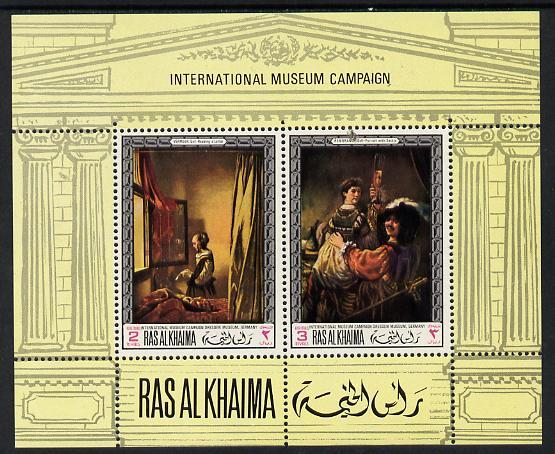 Ras Al Khaima 1968 Art - International Museums - Dressden perf m/sheet unmounted mint Mi BL 43A