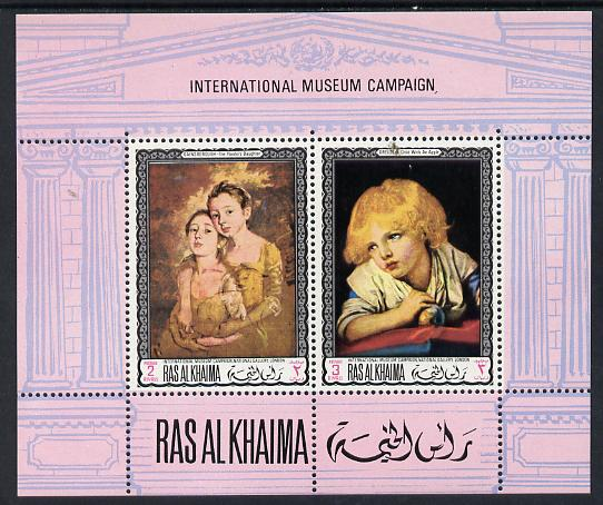 Ras Al Khaima 1968 Art - International Museums - National Gallery London perf m/sheet unmounted mint Mi BL 44A