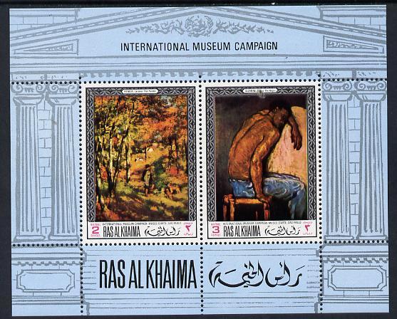 Ras Al Khaima 1968 Art - International Museums - Sao Paulo perf m/sheet unmounted mint Mi BL 45A