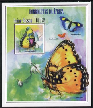 Guinea - Bissau 2013 Butterflies #10 imperf m/sheet unmounted mint. Note this item is privately produced and is offered purely on its thematic appeal