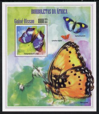 Guinea - Bissau 2013 Butterflies #11 imperf m/sheet unmounted mint. Note this item is privately produced and is offered purely on its thematic appeal