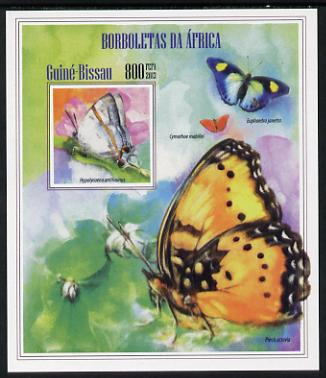 Guinea - Bissau 2013 Butterflies #12 imperf m/sheet unmounted mint. Note this item is privately produced and is offered purely on its thematic appeal