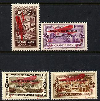 Lebanon 1926 Air set of 4, SG 91-94 (mounted mint)