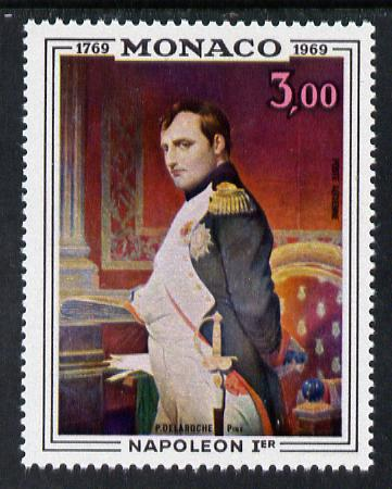 Monaco 1969 Birth Bicentenary of Napoleon 3f unmounted mint SG 945