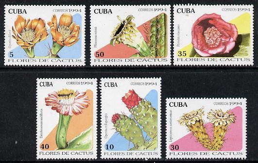 Cuba 1994 Cacti set of 6 unmounted mint, Mi 3764-69
