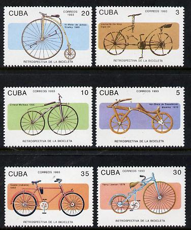 Cuba 1993 Bicycles set of 6 unmounted mint, Mi 3670-75
