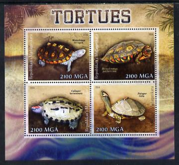 Madagascar 2014 Turtles perf sheetlet containing 4 values unmounted mint