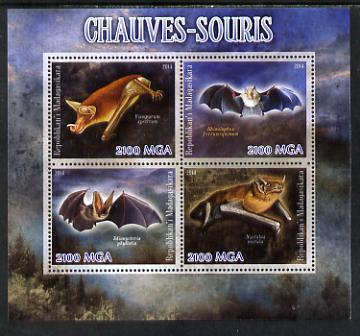 Madagascar 2014 Bats perf sheetlet containing 4 values unmounted mint