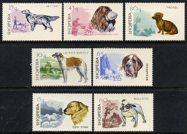 Albania 1966 Dogs set of 7 unmounted mint SG 1064-70