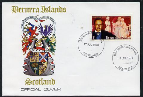 Bernera 1978 Richard Strauss imperf 3p on Official unaddressed cover with first day cancel